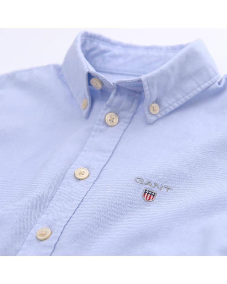 Çocuk Mavi Regular Oxford Gömlek