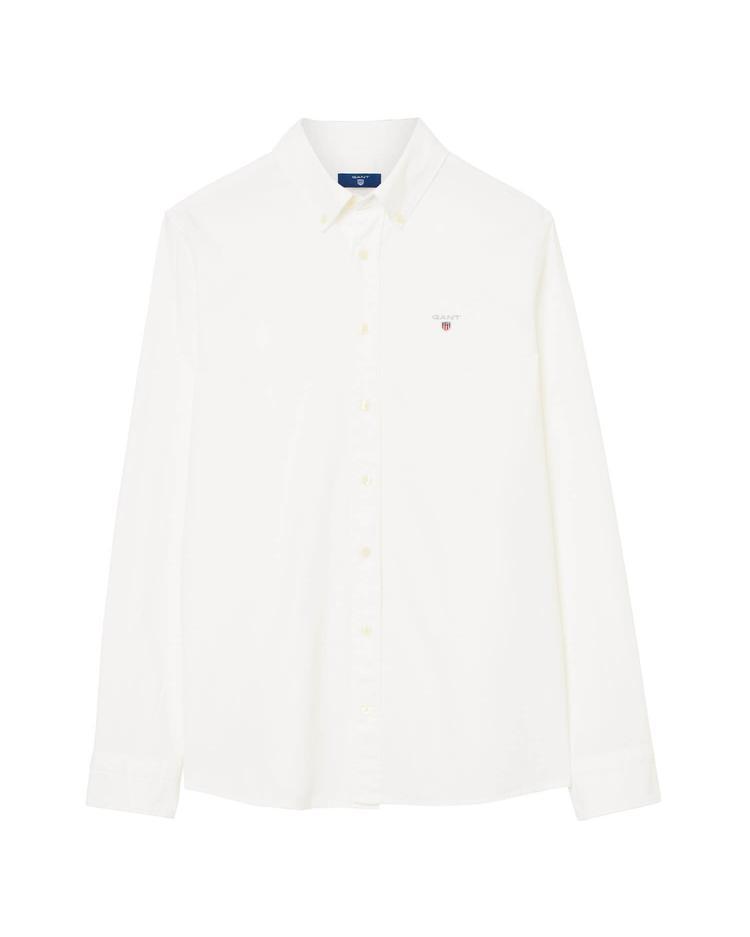 Gant Erkek Çocuk Beyaz Regular Oxford Gömlek