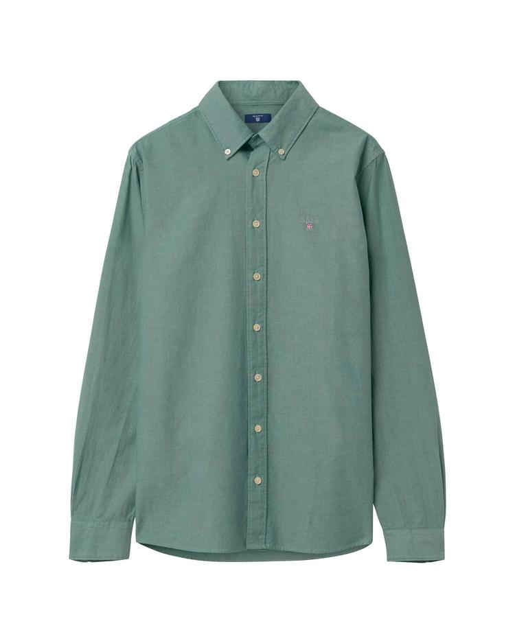 Erkek Çocuk Yeşil Regular Oxford Gömlek