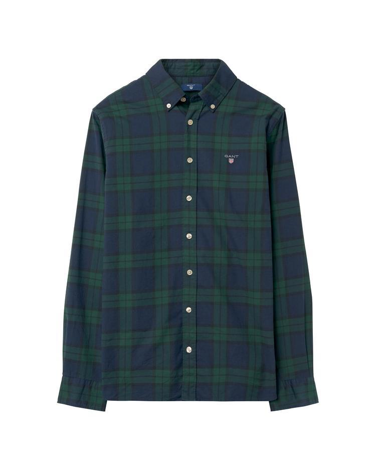 GANT Erkek Çocuk Yeşil Teen Boys Twill Blackwatch Gömlek