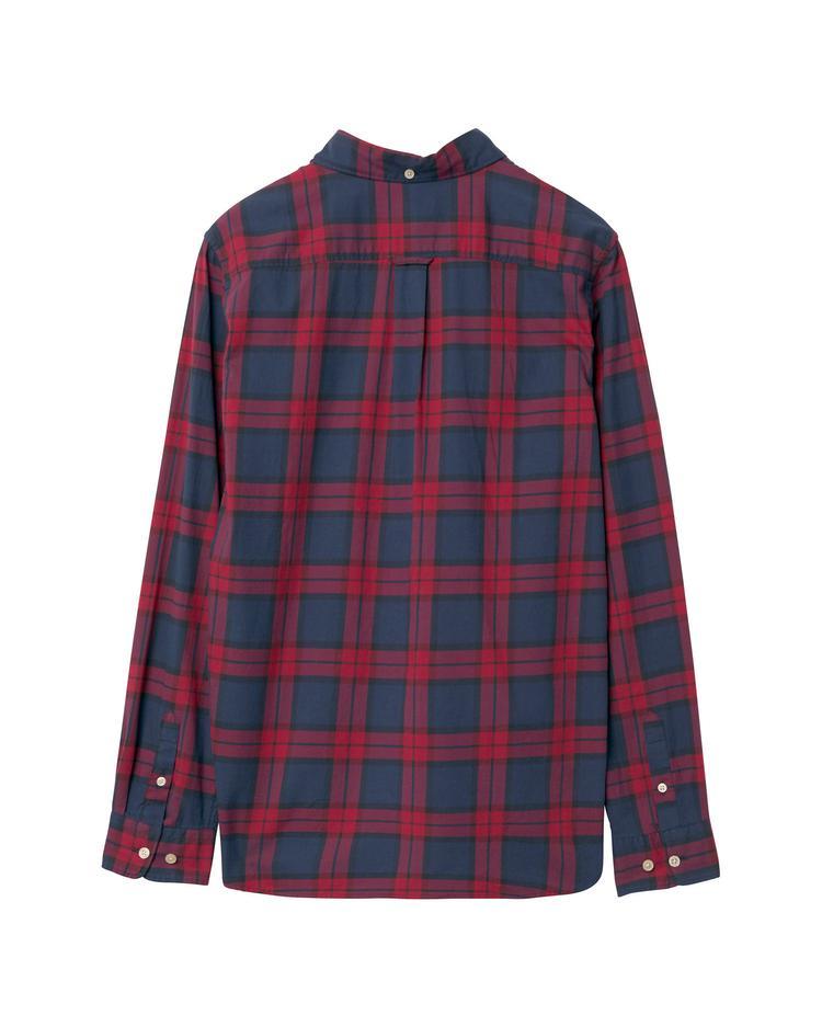 Gant Çocuk Kırmızı Teen Boys Twill Blackwatch Gömlek