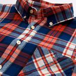 Çocuk Kırmızı Teen Boys Flannel Check Gömlek