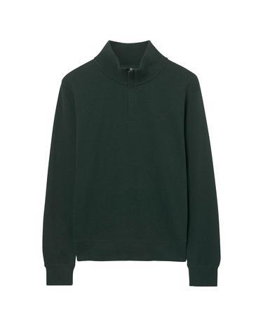 Erkek Yeşil Fermuarli Triko Sweatshirt