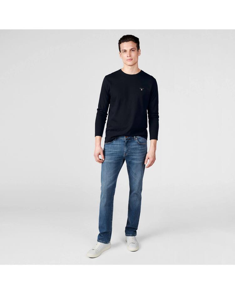 GANT Erkek Mavi Slim Jean Pantolon