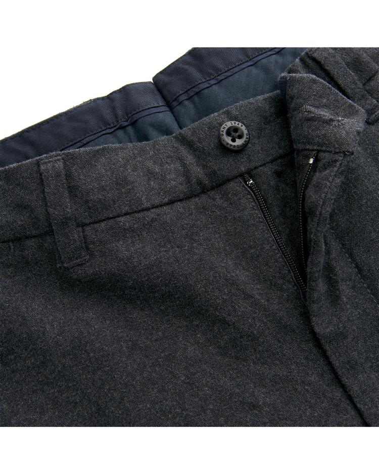 GANT Erkek Gri Slim Salt N Pepper Slacks Pantolon