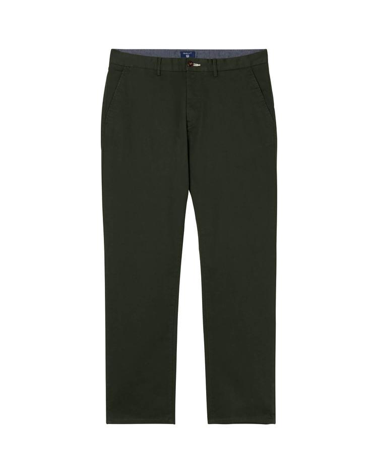 GANT Twill Chino Erkek Koyu Yeşil Regular Pantolon