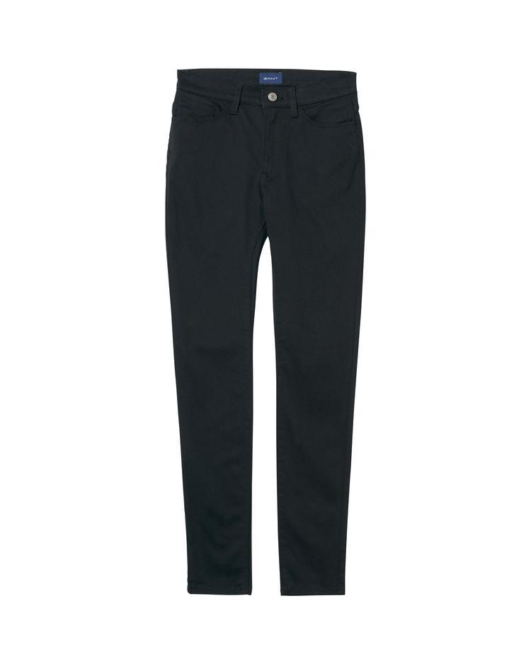 Kadın Siyah Skinny Sateen Jeans Pantolon