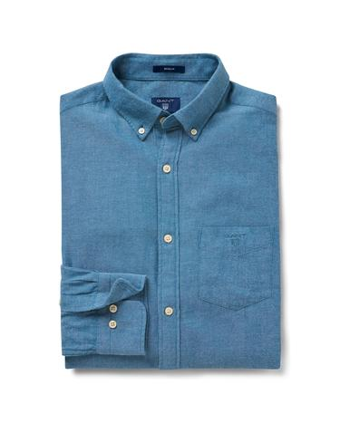 Erkek Windblown Flannel Mavi Gömlek