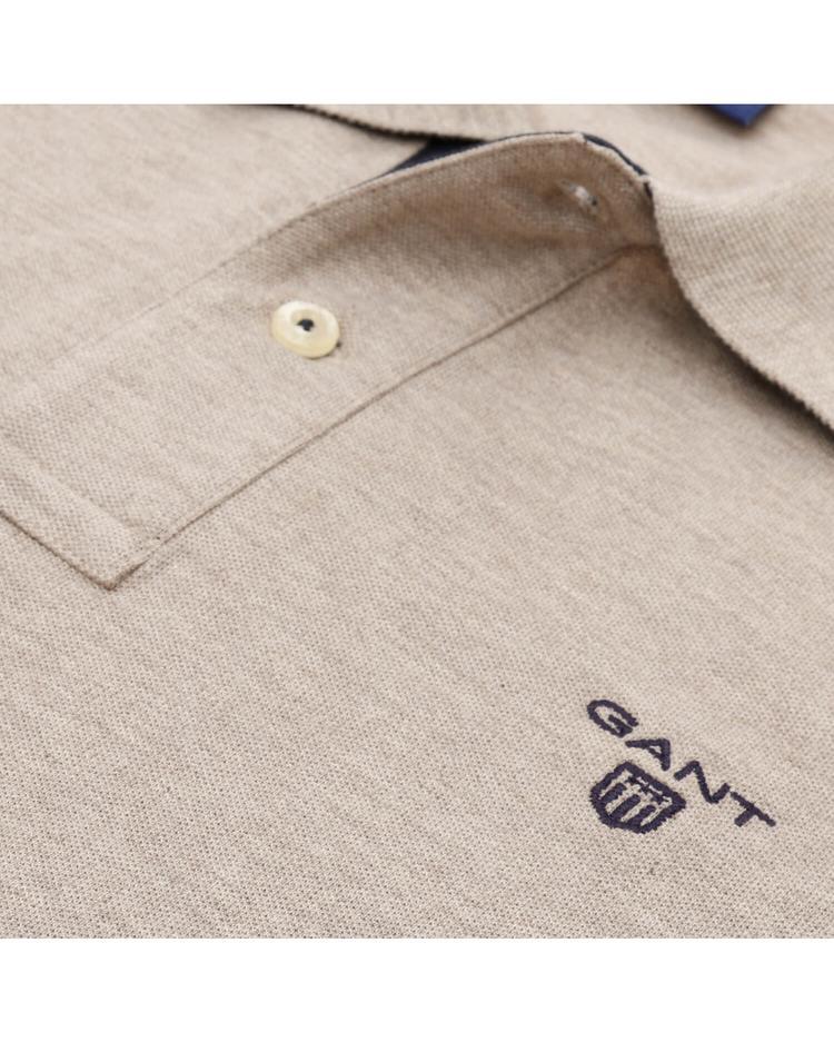 GANT Erkek Bej Original Piqué Rugger Uzun Kollu Polo Sweatshirt