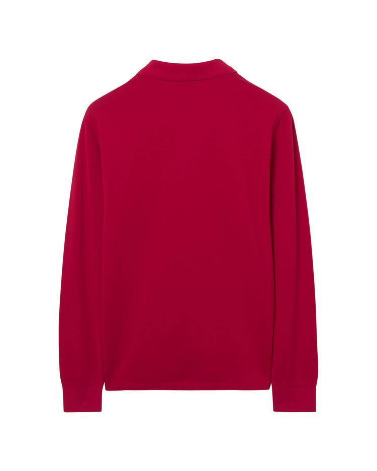 Erkek Kırmızı Uzun Kollu Regular Pique Polo