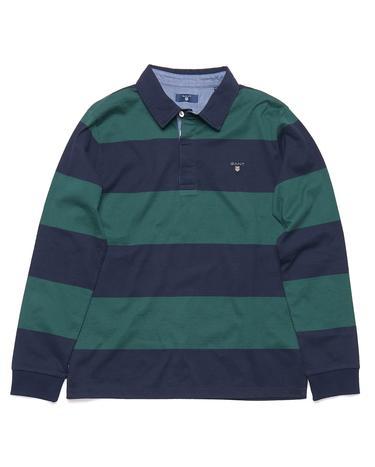 GANT Erkek Çocuk Yeşil Lacivert Çizgili Sweatshirt