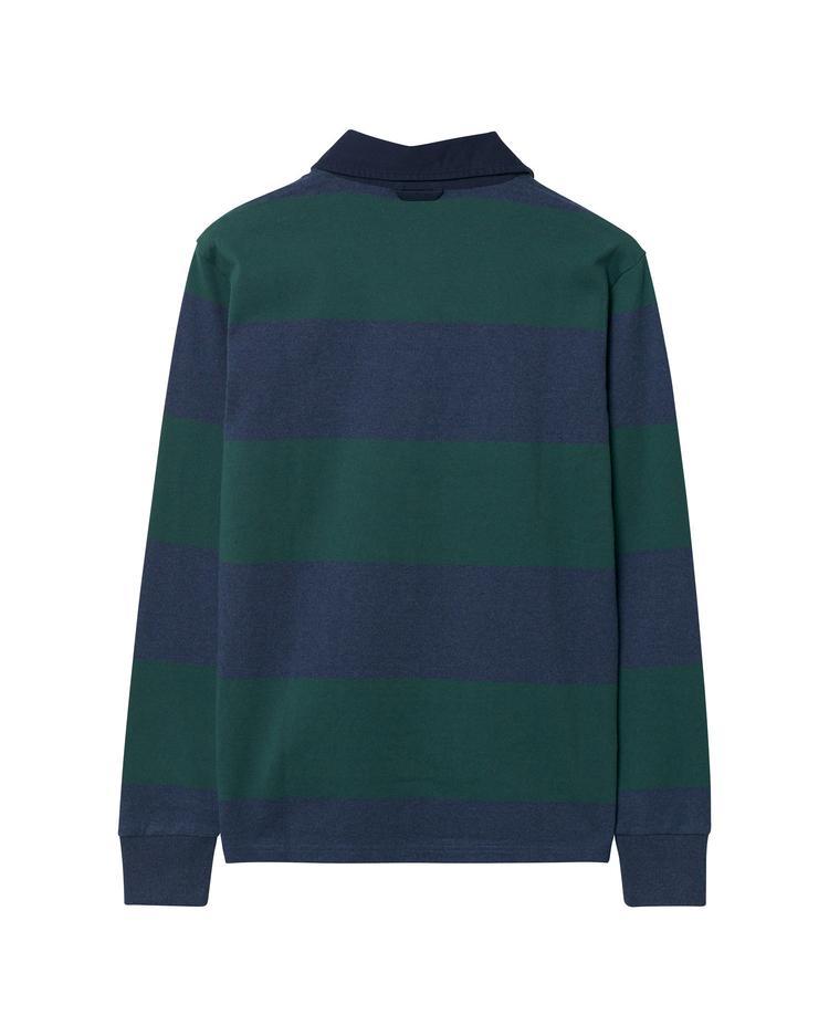 Gant Erkek Yeşil Lacivert Çizgili Sweatshirt