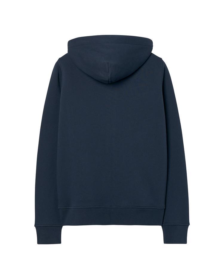 Kadın Lacivert Gold Logolu Hoodie Sweatshirt