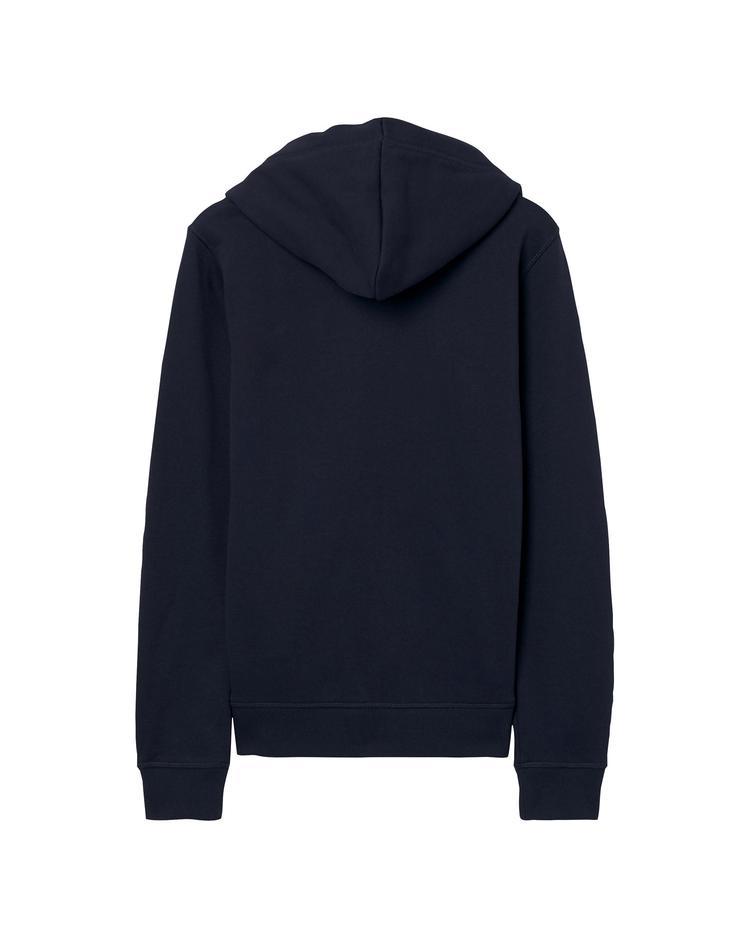GANT Kız Çocuk Lacivert Logo Full Zip Hoodie Sweatshirt