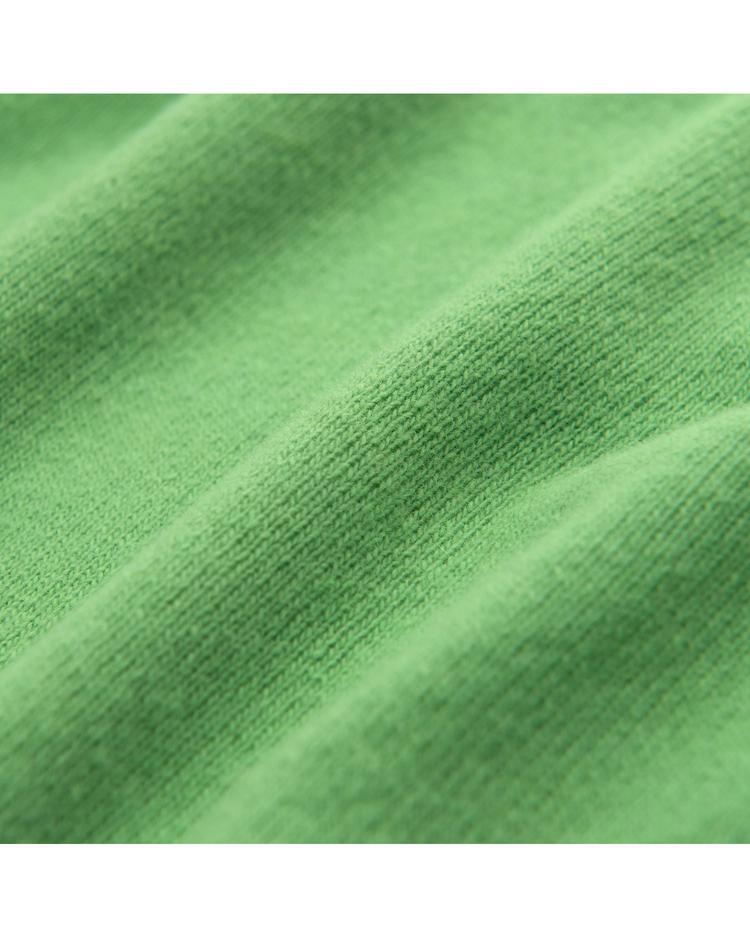 Kadın Yeşil V Yaka Yün Triko Kazak