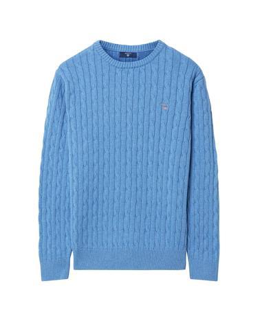 Çocuk Mavi Teen Boys Cotton Cable Triko