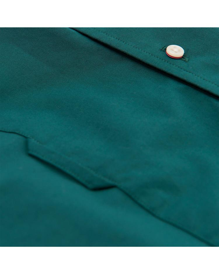 Erkek Yeşil Slim Broadcloth Gömlek