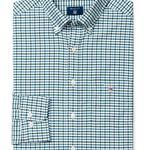 Gant Erkek Yeşil Kareli Regular Oxford Gömlek