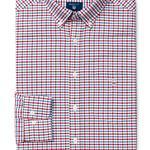 Erkek Kırmızı Kareli Regular Oxford Gömlek