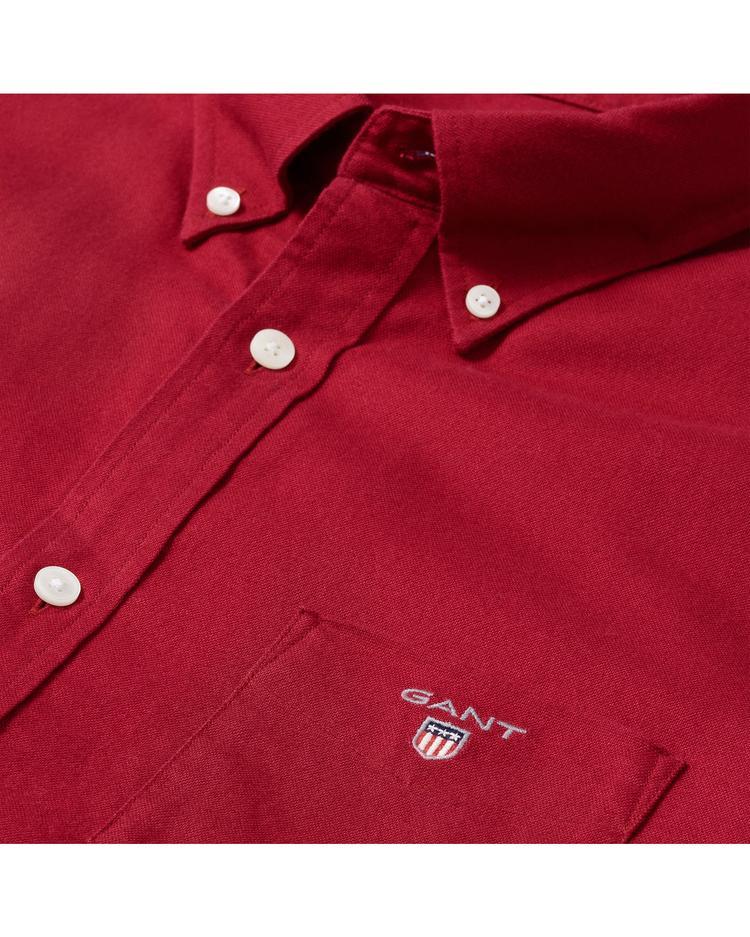 Erkek Kırmızı Regular Oxford Gömlek Gömlek