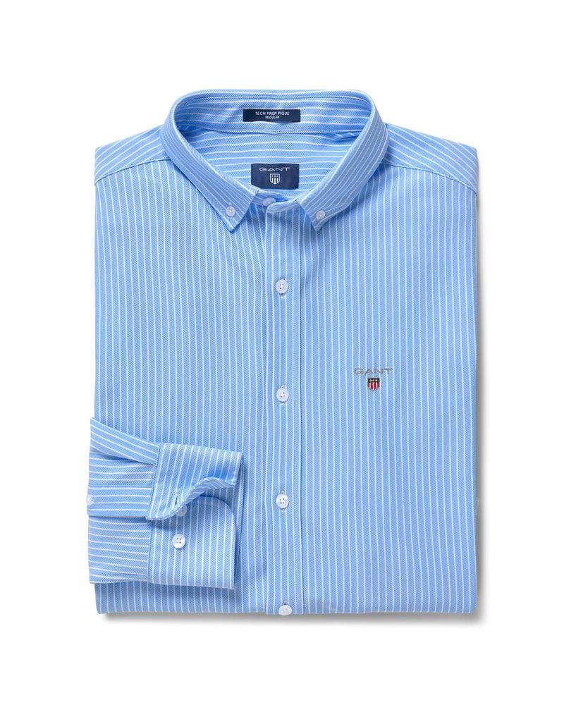 Erkek Mavi Tech Prep Stripe Pique Gömlek