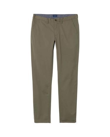 GANT Erkek Twill Chino Yeşil Slim Pantolon
