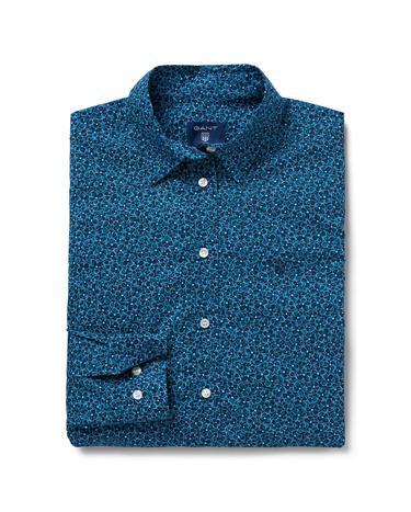 Gant Kadın Yeşil Broadcloth Desenli Regular Fit Gömlek