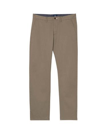 GANT Twill Chino Erkek Haki Regular Pantolon