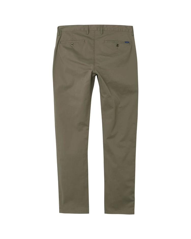 Erkek Twill Chino Yeşil Slim Pantolon