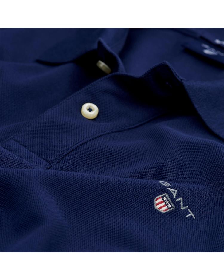 Gant Pike Rugger Regular Lacivert Erkek Polo