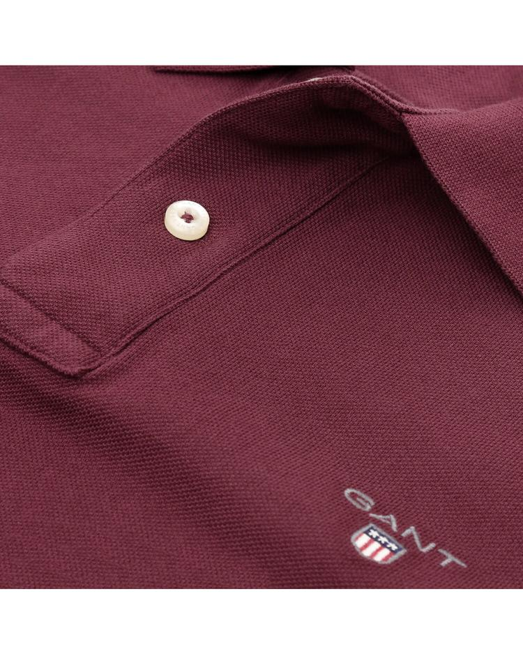 GANT Original Piqué Regular Erkek Bordo Polo