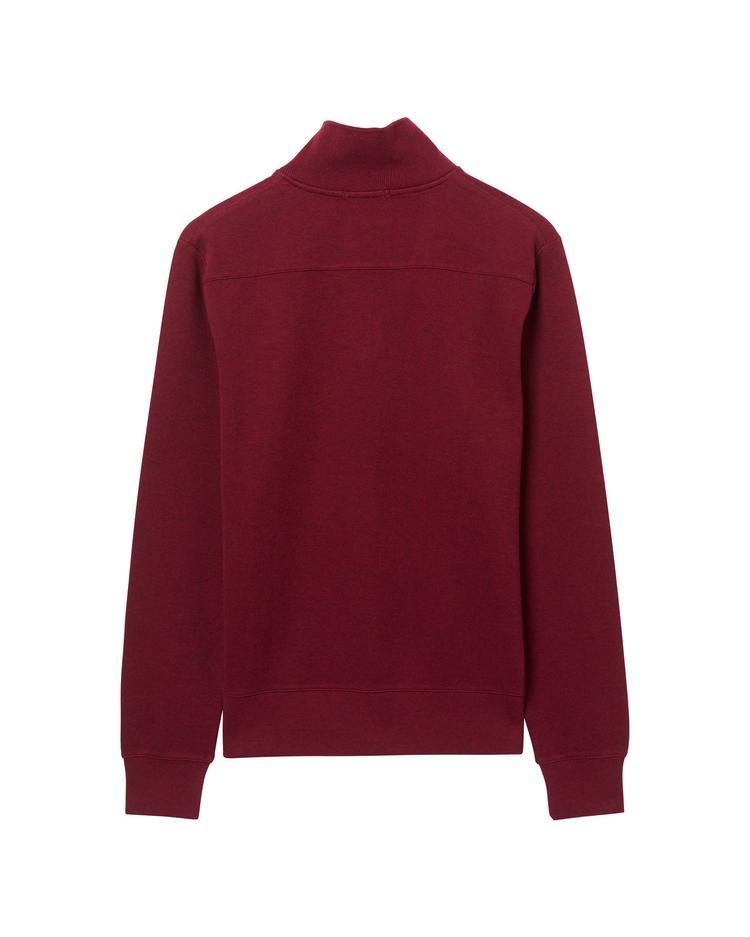 GANT Erkek Bordo Half Zip Sweatshirt
