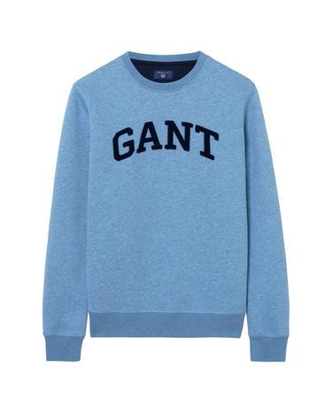 Erkek Mavi Crew Sweatshirt