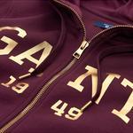 GANT Kadın Bordo Gold Logolu Hoodie Sweatshirt