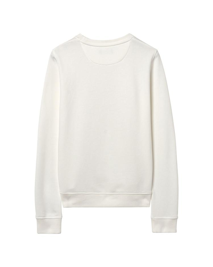 Kadın Beyaz Gold Logolu Sweatshirt