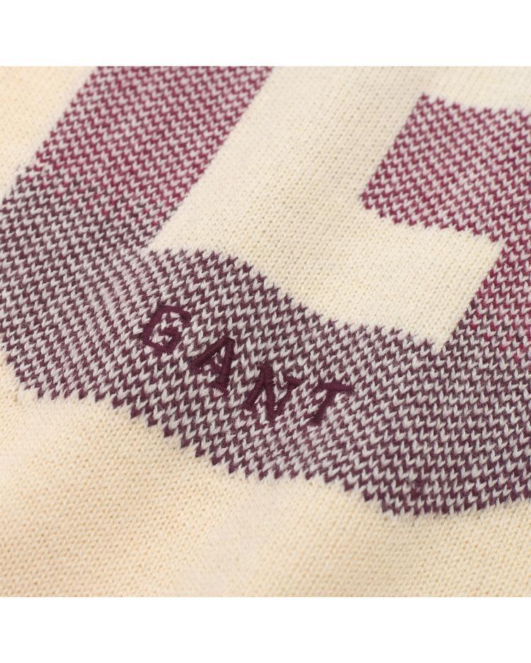 Kadın G logo Bej Triko Kazak