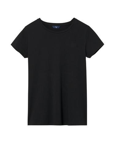 Kadın Siyah Cott Ela C-Neck Tshirt