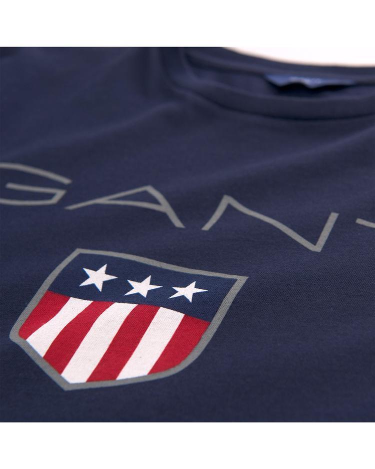 GANT Erkek Çocuk Lacivert Teen Boys Shield Logolu T-Shirt