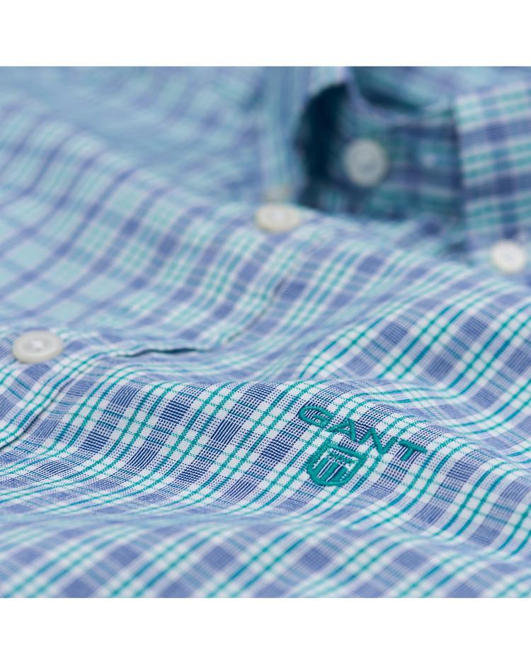 Erkek Mavi Pembe Çizgili  Windblown Oxford Stripe Reg Gomlek