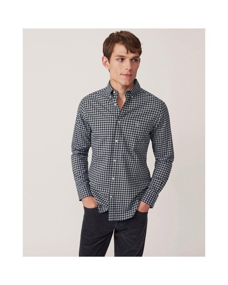 Erkek Siyah Kareli Regular Gömlek