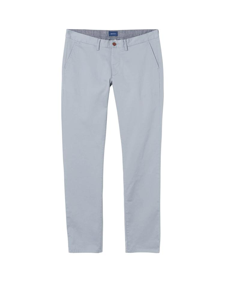 GANT Erkek Twill Chino Gri Slim Pantolon