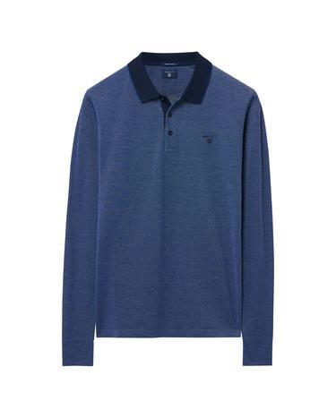 Erkek Mavi Uzun Kollu Regular Polo