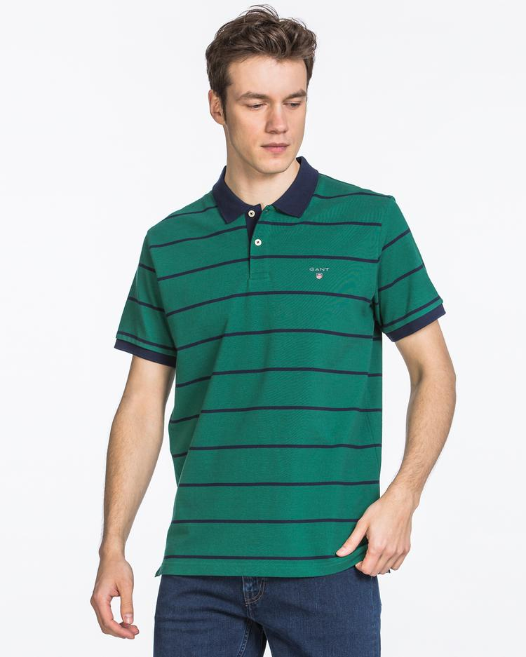 GANT Erkek Yeşil Pique Polo