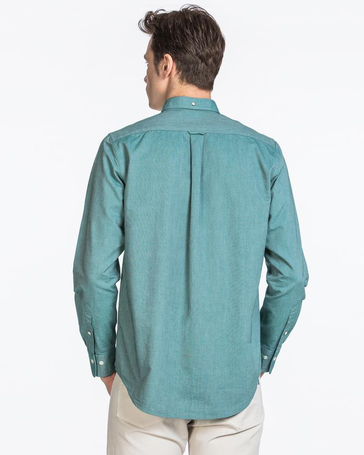 GANT Erkek Yeşil Regular Fit Oxford Gömlek