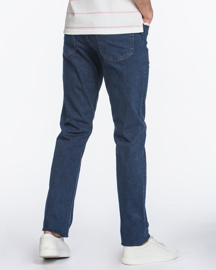 GANT Erkek Lacivert Regular Fit Denim Pantolon