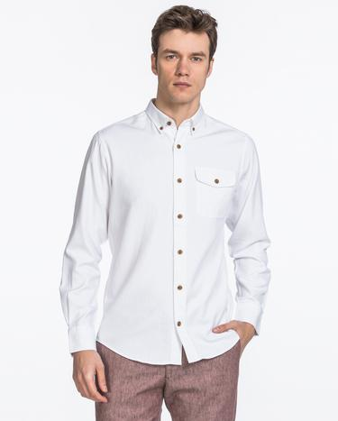 GANT Erkek Krem Rengi Regular Fit Gömlek