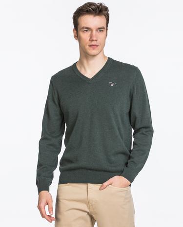 Gant Erkek Yünlü Yeşil Triko
