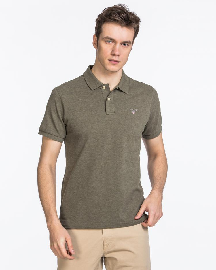 GANT Erkek Haki Regular Fit Pique Polo