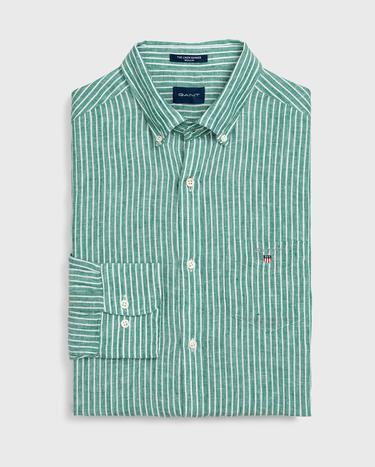 GANT Erkek Yeşil Keten Gömlek