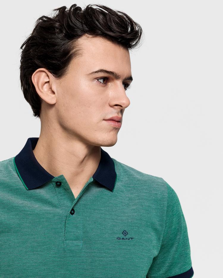 GANT Erkek Yeşil Regular Fit Pique Rugger Polo